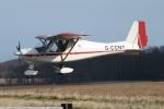 Colin landing at Cromer